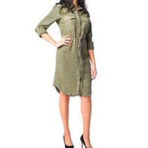 Parasuco Khaki Coat/Dress Size S